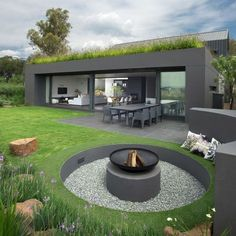 Green roofs look great with modern architecture.