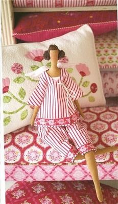 cute little doll, pillow, and fabrics Doll Patterns, Sewing Patterns, Sewing Crafts, Sewing Projects, Merian, Sewing Dolls, Little Doll, Doll Maker, Diy Doll