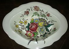 """COPELAND SPODE """"GAINSBOROUGH"""" PATTERN (S245) OVAL VEGETABLE BOWL 9 1/4"""""""