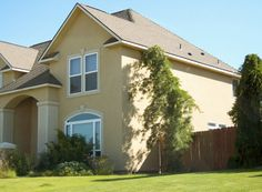 Stucco Exterior Home Color Schemes | The following two houses have exterior paint schemes that comply with ...