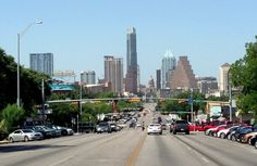 Downtown #Austin as seen from Congress Avenue. photo by: Laurie Lyons www.seesawaustin.com/downtown-austin