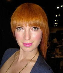 2008-121e 671 (stefie_jones) Tags: red orange hair ginger strawberry bob redhead blonde copper salon asymmetrical hairstyles dyed bowlcut