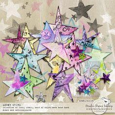 Lucky Stars #luckystars #handmade #visualartmediabundle #dawninskip #scrapbookgraphics