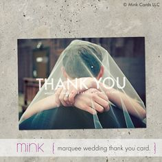 wedding thank you photo card Marquee by minkcards on Etsy, $64.00