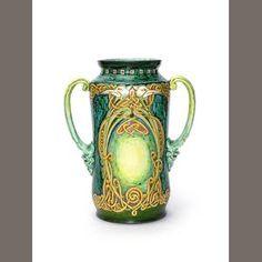 Cassandia Ann Walker for Della Robbia  A Large Albarello Vase, 1904