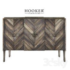 Hooker Furniture Living Room Chevron Console