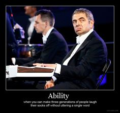 Mr. Bean, ftw!!! That part was HYSTERICAL. Even my mom loved it and she never gets British humor.