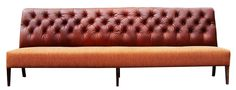 TLS by Design- Gorgeous leather and fabric combo banquette. #hospitalityfurniture #design