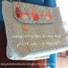 My T-WIN bags are waiting for YOU. On my blog. The perfect project and notions bag team! Totally free in March ;)! Have fun!