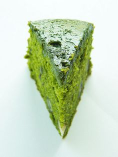 """MATCHA GREEN TEA, ADZUKI BEAN & CREAM LAYER CAKE ~~~ this image is shared from, """"patisserie fiffin"""" in nagoya, japan. [Andrea Cheah] [flickr] [plating inspiration, image only]"""