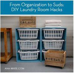 Roundup: 8 DIY Laundry Room Hacks, Tips, & Ideas