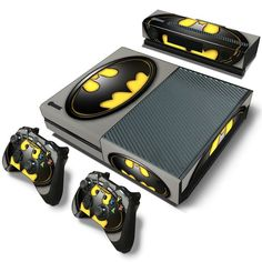 Classic Batman PVC Skin Sticker For Xbox One Console,Controller and kinect. High quality vinyl sticker for Xbox One. Covers front side, left side, right side and 2 remote controllers. Video Games Xbox, New Video Games, Xbox One Games, Batman Xbox One, Batman Room, Joker Batman, Batman Stuff, Control Xbox, Wii