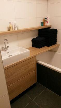 Teak Recycled Oud Hout Badkamer dressoir met 1 lade 1 | Freerk/Petra ...