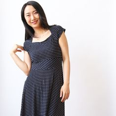 the jackie features a square neckline, a full knee length skirt, and a waistband. machine wash cool, hang dry, no ironing ever needed! the jackie is an american made dress crafted with love in Brooklyn, NY