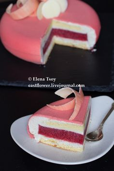 Creation made with Eclipse moulds by Elena Tsoy Mousse Dessert, Mousse Cake, Cake Recipes, Snack Recipes, Dessert Recipes, Sweet Cakes, Cute Cakes, Bolo Original, Cakes Plus