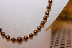 Small Brown Pearl Glass Beaded Necklace with by AngeleDesignsLA