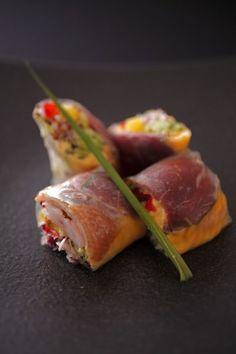 【蓼科キュイジーヌ】<前菜>Appetizer☆ 長野県産鹿肉と北京ダッグの生春巻き ☆