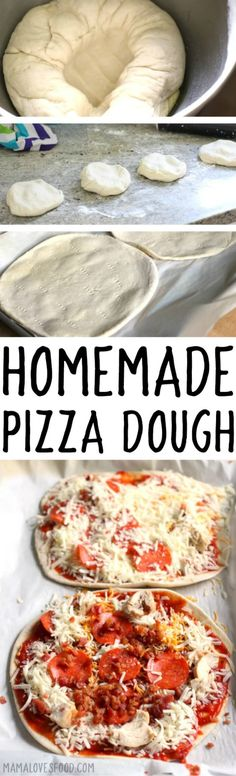 PIZZA DOUGH RECIPE - we make this all the time and stash it in the freezer for when we're ready! #pizzadough #pizzaparty #pizza