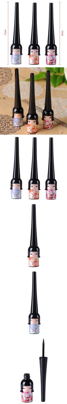 Easy To Wear Cosmetic Waterproof Liquid Eyeliner Pen Makeup In Cute Dool Bottle Women Beauty Care Eye Liner