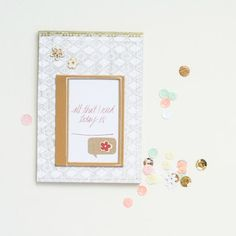 In The Scrap: Customise your notepad - Por Elena