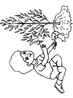 imagini de colorat cu copii care planteaza pomi - Google Search