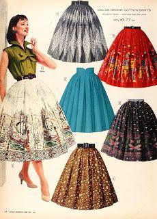 Sears 1950's skirts