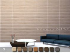 The Sims Resource: Contemporary Wood Wall 2 by .Torque