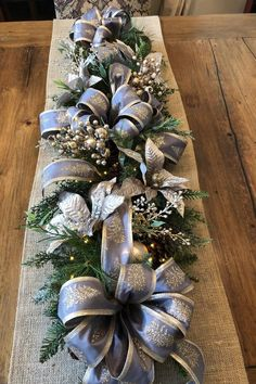 Your place to buy and sell all things handmade – Holiday Decorations Blue Christmas Decor, Christmas Runner, Gold Christmas Decorations, Christmas Balls, Christmas Wreaths, Christmas Crafts, All Things Christmas, Xmas, Christmas Ornaments