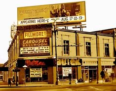 The Fillmore West/Carousel Ballroom was originally known as the El Patio Ballroom and it was located on the upper floor of a car dealership on the southwest corner of Market Street and Van Ness Avenue in San Francisco. Blue Cheer, Janis Joplin, Grateful Dead, Rock N Roll Music, Rock And Roll, Fillmore West, Bill Graham, Jefferson Airplane, Upstate New York