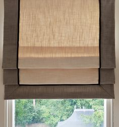 like the way you can see through the fabric on these  Custom made roman blinds - The Dormy House