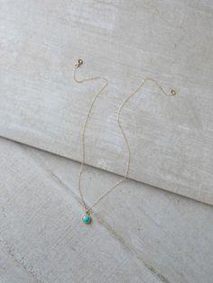 Petite Layering Necklace - turquoise | FASHIONABLE