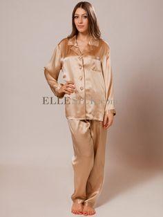 Luxury Long Silk Pajamas for Women SW38CHAM #silk #sleepwear