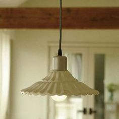 1920's Style Ceramic French 'Nantes' Ceiling Lamp