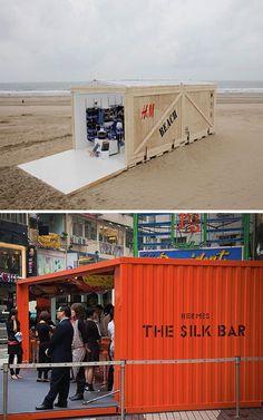 All about Pop-Up Shops on Rena Tom's blog. Images via Inhabitat and Business Insider