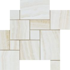 White Onyx Polished Opus Mini Pattern Mosaic Tile Vein Cut