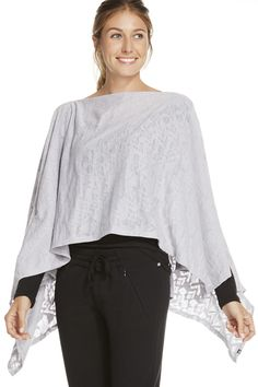 The Lily Scarf en Stone Trailmix - Ropa deportiva bufanda, poncho, chal Fabletics
