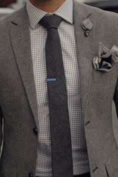 Grey matters. Excellent blue tie pin