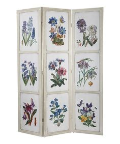 Look at this Three-Panel Botanical Screen on #zulily today!