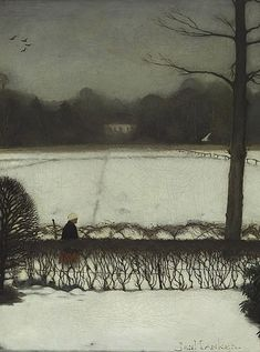 Jan Mankes, Uitzicht atelier te Eerbeek, 1917, Oil on canvas laid down on panel, 33.5x 25.5 cm | Museum Arnhem