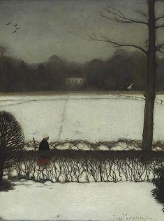 Jan Mankes (Dutch, 1889 - 1920), View studio in Eerbeek (Uitzicht uit het atelier in Eerbeek), 1917, oil on canvas, 33,5 x 25,5