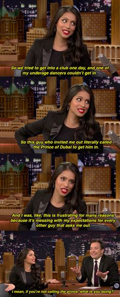 Everything That Went Down When Lilly The conversation then moved on to an eventful date that Singh had in Dubai.The conversation then moved on to an eventful date that Singh had in Dubai. Dc Memes, Funny Memes, Hilarious, In Dubai, The Weeknd Songs, Lily Singh, Comedy, Jimmy Fallon, Just For Laughs
