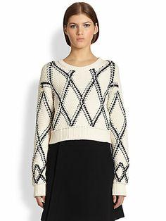 Proenza Schouler - Grid-Knit Sweater - Saks.com