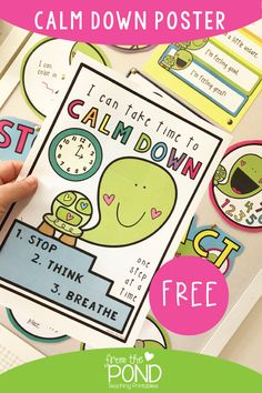 Calm Down Ideas for the classroom + free poster
