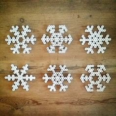 Snowflakes hama beads by anettebuchhave