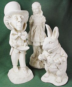 Neat things on pinterest book sculpture red riding hood - Alice in wonderland garden statues ...