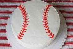 Follow this easy Baseball Cake Tutorial to create a simple, but perfect cake for your Baseball themed party!