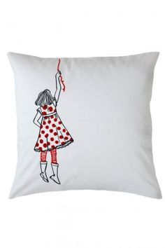 Girl Pillow Embroidery