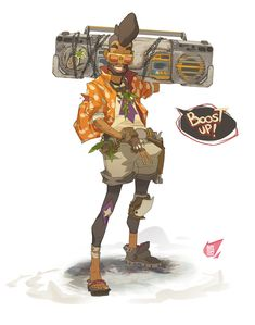 Atomic Delivery - Kuhn Ley FruitJuice, Sergi Brosa on ArtStation at… Character Drawing, Character Illustration, Game Character, Character Concept, Concept Art, Character Design Teen, Arte Cyberpunk, Character Creation, Character Design References