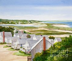 Truro Summer Cottages by Michelle Wiarda (Cape Cod painting)