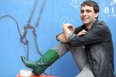 Artist Ryan McNamara and his Granddad's Emerald Cowboy Boots, nytimes #Ryan_McNamara #Green_Boots #my brother